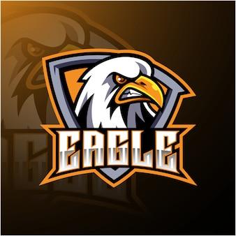 Design de logotipo de mascote de esporte de águia