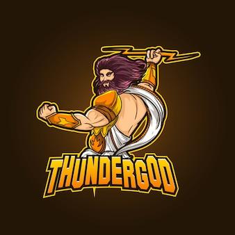Design de logotipo de mascote de esportes editável e personalizável ilustração de contração de esports