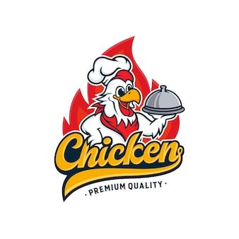 Design de logotipo de mascote de frango