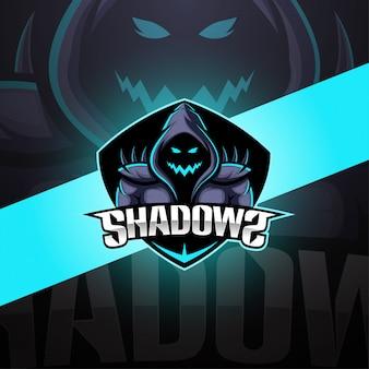 Design de logotipo de mascote esport de sombras