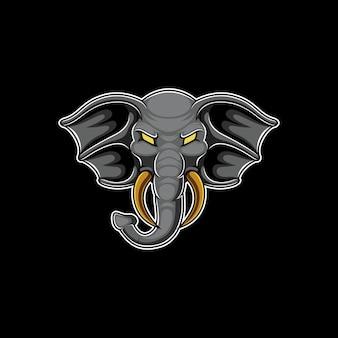 Design de logotipo de mascote esport elefante