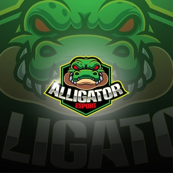 Design de logotipo de mascote esport jacaré
