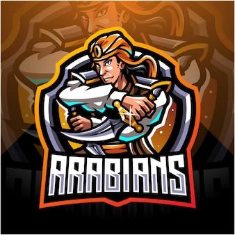 Design de logotipo de mascote esportivos árabes