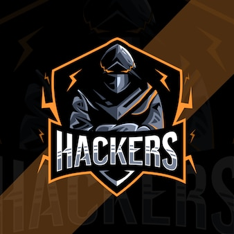 Design de logotipo de mascote hacker