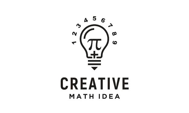 Design de logotipo de matemática criativa