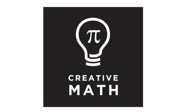 Design de logotipo de matemática de bulbo