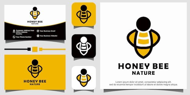 Design de logotipo de mel de abelha
