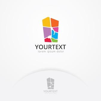Design de logotipo de melodia de mosaico