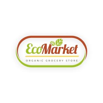 Design de logotipo de mercado ecológico