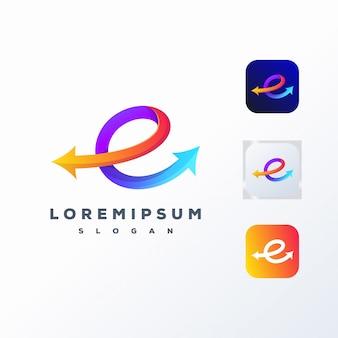 Design de logotipo de mídia social colorido pronto para uso