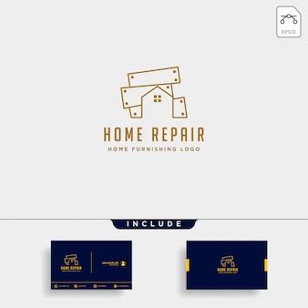 Design de logotipo de mobília com ouro