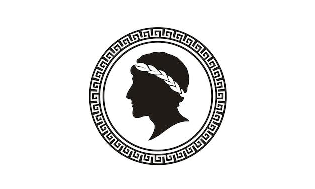 Design de logotipo de moeda grega antiga