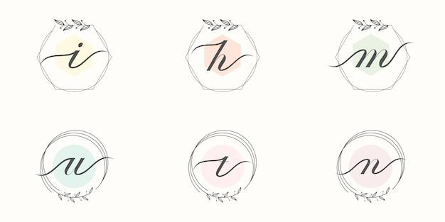 Design de logotipo de monograma de casamento