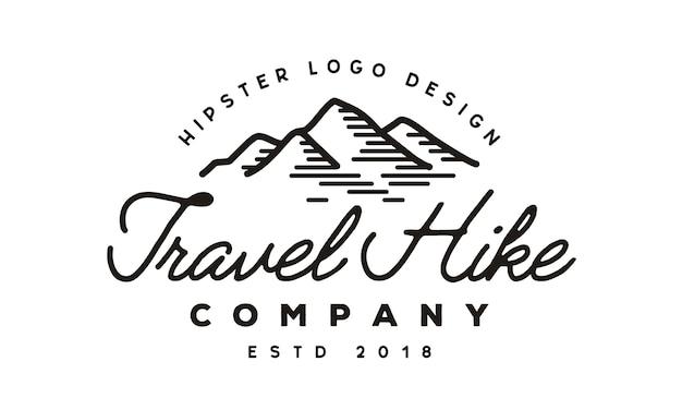 Design de logotipo de montanha / viagens / aventura hipster