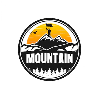 Design de logotipo de montanha