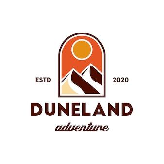 Design de logotipo de montanhas de dunas de areia