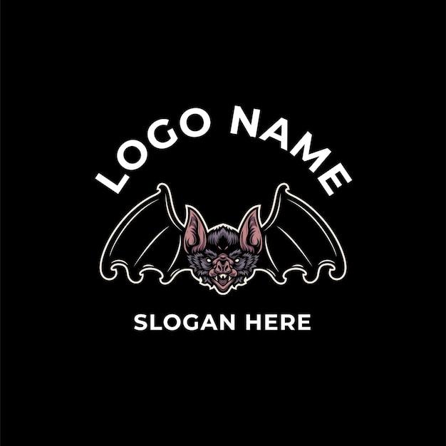 Design de logotipo de morcego vampiro