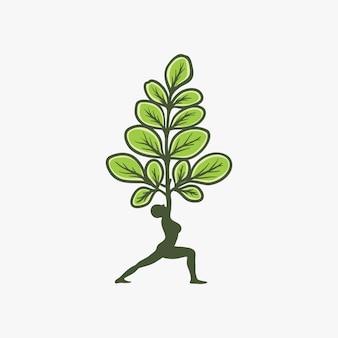 Design de logotipo de moringa