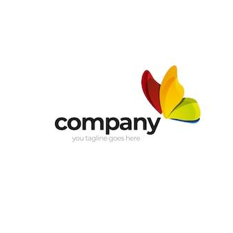 Design de logotipo de mosca de cor