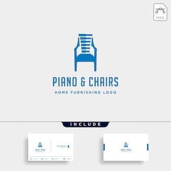 Design de logotipo de móveis de música