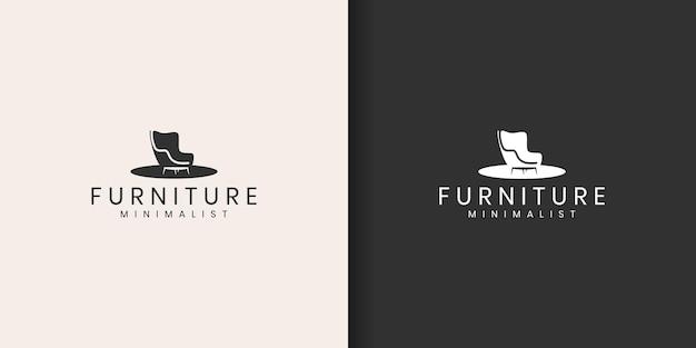 Design de logotipo de móveis minimalistas