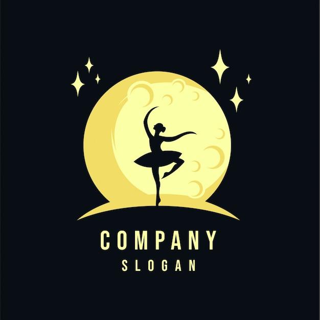 Design de logotipo de mulheres e lua
