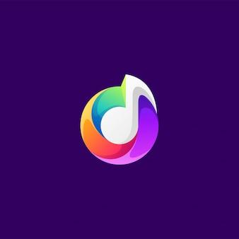 Design de logotipo de música