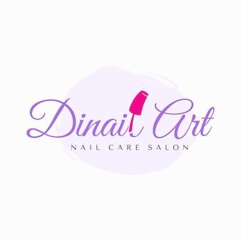 Design de logotipo de nail art