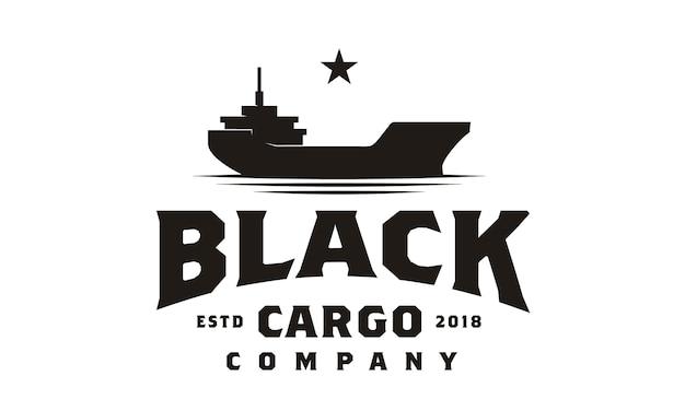 Design de logotipo de navio de carga