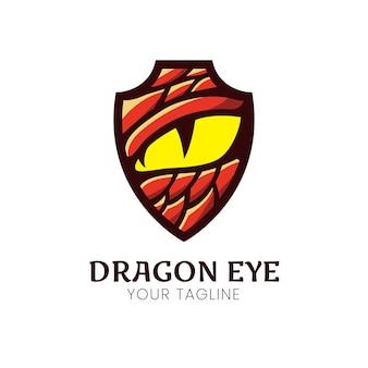 Design de logotipo de olho de dragão