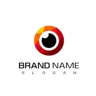 Design de logotipo de olhos vermelhos