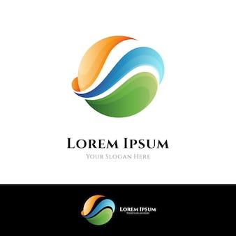 Design de logotipo de onda simples