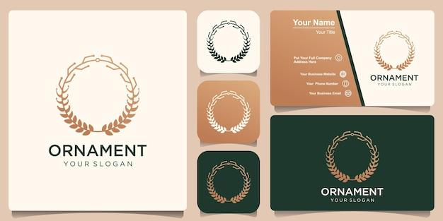 Design de logotipo de ornamento de tecnologia de crescimento