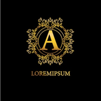 Design de logotipo de ornamento