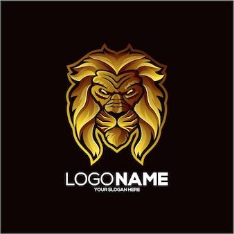 Design de logotipo de ovelha dourada