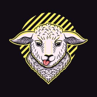 Design de logotipo de ovelhas
