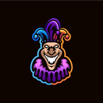 Design de logotipo de palhaço