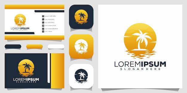 Design de logotipo de palmeira