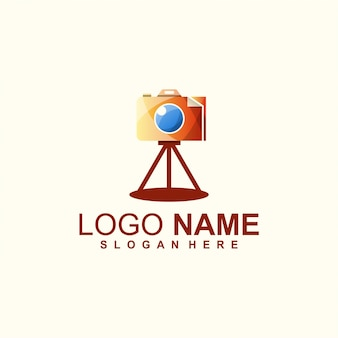 Design de logotipo de papel da câmera