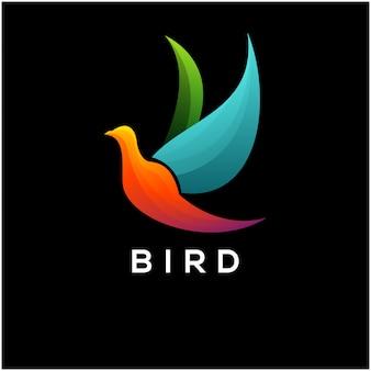 Design de logotipo de pássaro colorfull