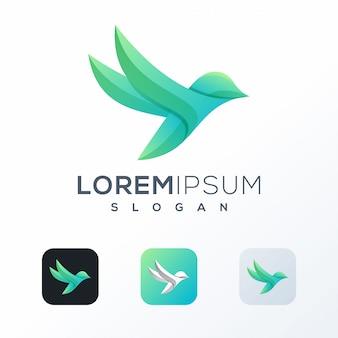Design de logotipo de pássaro colorido