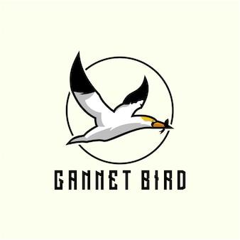 Design de logotipo de pássaro ganso