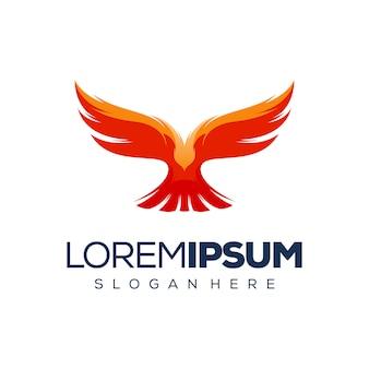 Design de logotipo de pássaro premium