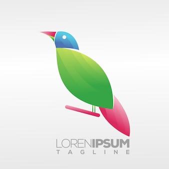Design de logotipo de pássaro