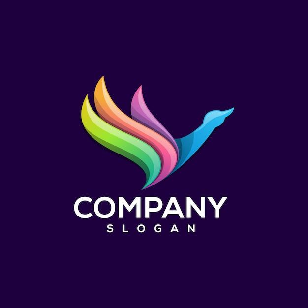 Design de logotipo de pato