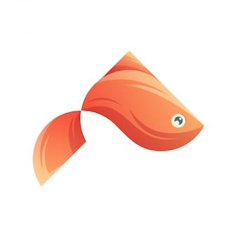 Design de logotipo de peixe colorido pronto para uso
