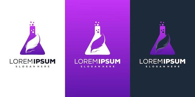 Design de logotipo de penas Vetor Premium