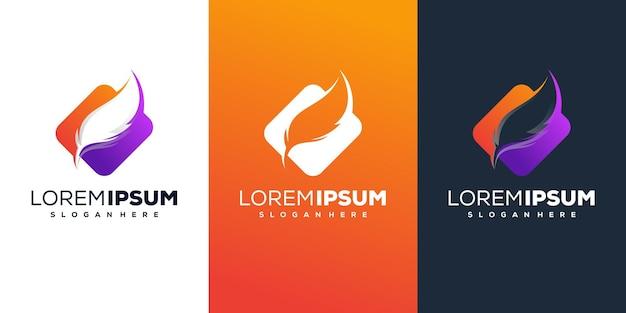 Design de logotipo de penas
