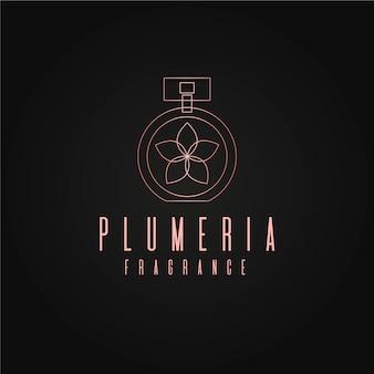 Design de logotipo de perfume floral de luxo