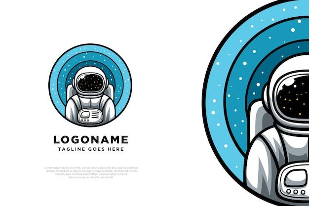 Design de logotipo de personagem de astronauta